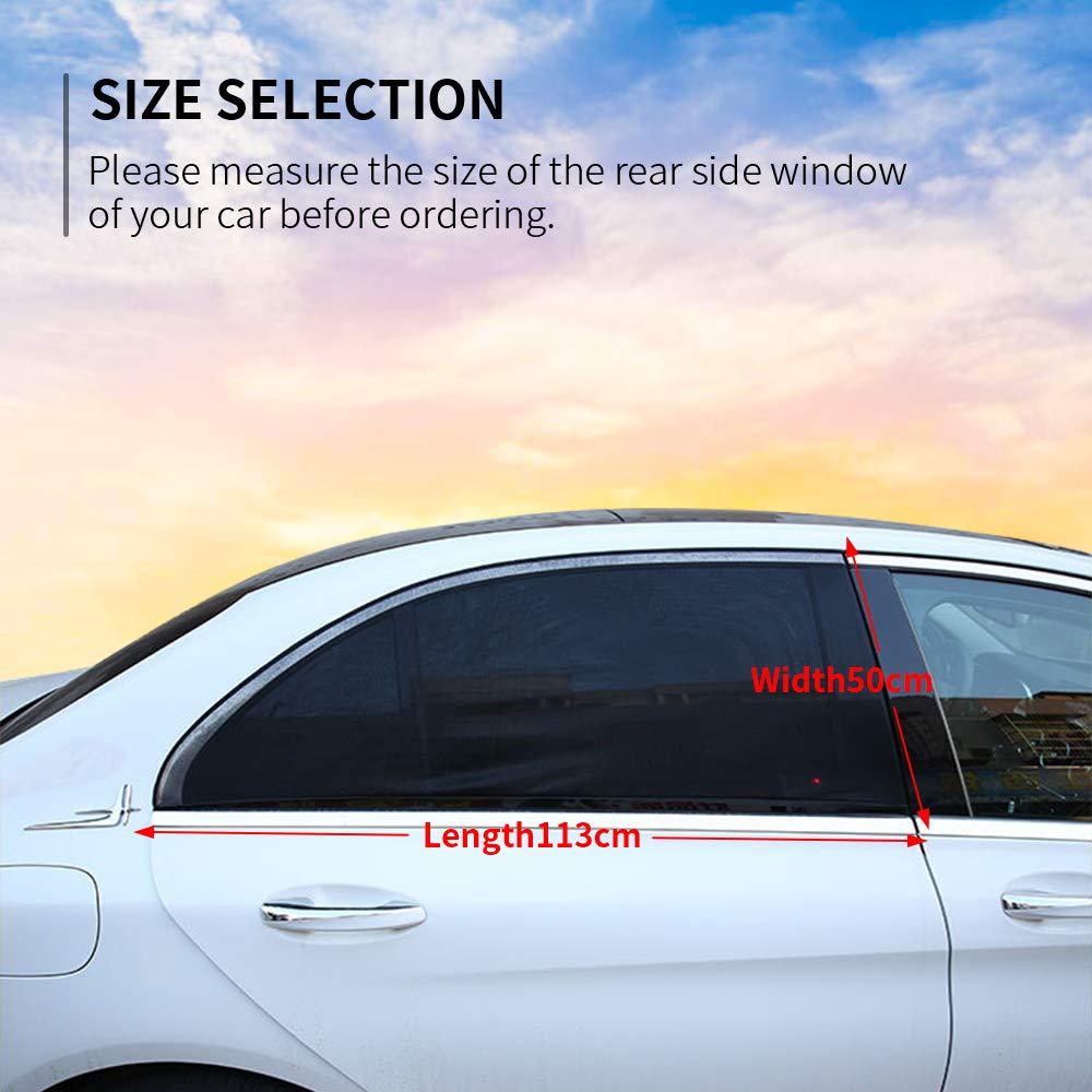 HWeggo Tendina parasole laterale per auto tendina parasole auto bambini per retro parasole per finestrini laterali per massima protezione dai raggi UV bambino e Dog Nero