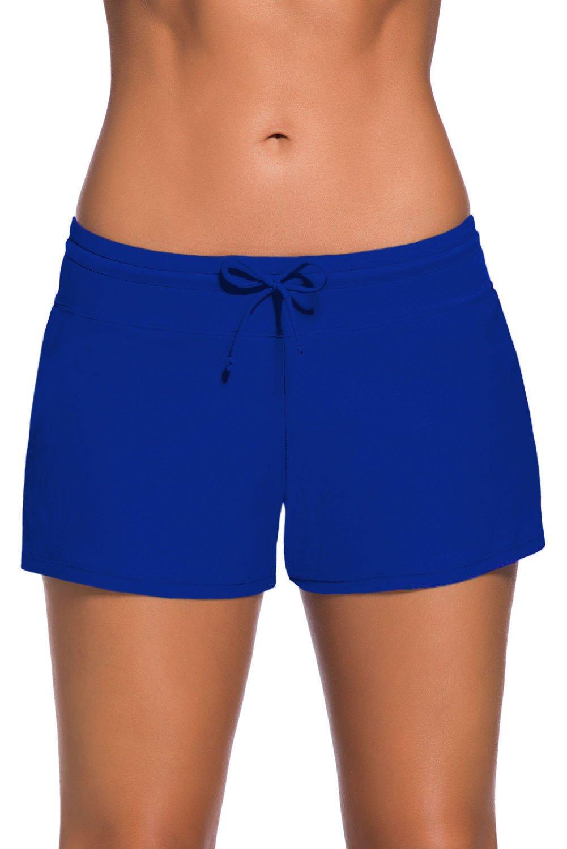 Women Swimsuit Tankini Sport Side Split Plus Size Bottom Board Shorts