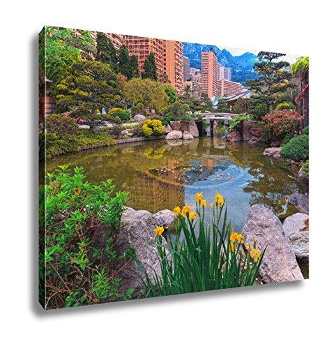 Ashley Canvas, View Of Monaco Garden Cote Dazur, 24x30 - Monaco Exotic Gardens