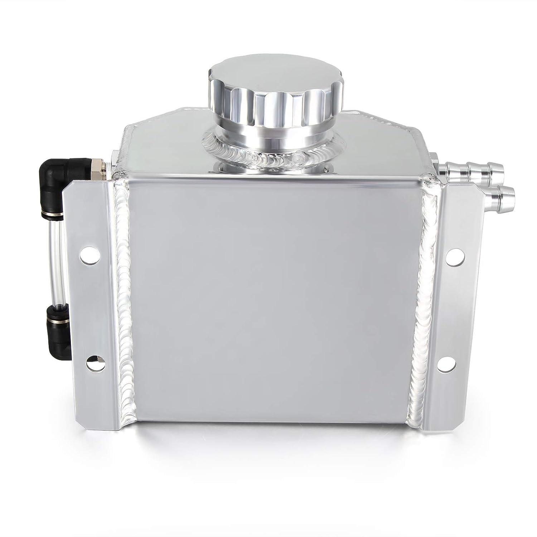 Universal Aluminum 1L Coolant Radiator Overflow Recovery Water Tank Bottle Black