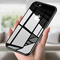 Coque iPhone 8, Coque iPhone 7, innislink Étui iPhone 8 Silicone Ultra Mince Crystal Coque de Protection Anti Choc Anti-Scratch Souple Gel TPU Shell Apple Case Cover Bumper Housse iPhone 8/7 - Noir