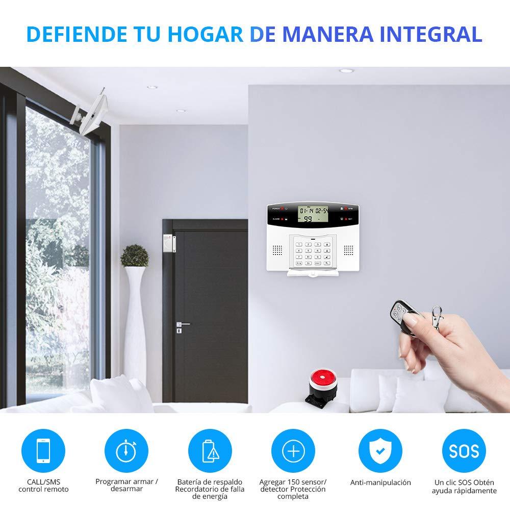 Kit Sistema de Alarma GSM//SMS Control de marcado autom/ático por CALL//APP IOS//ANDROID KERUI Pilas Incluida