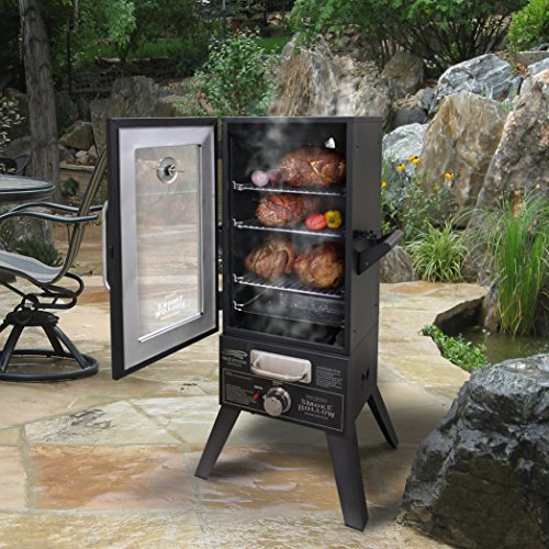 Gas Porcelain Coated Smoker - 4
