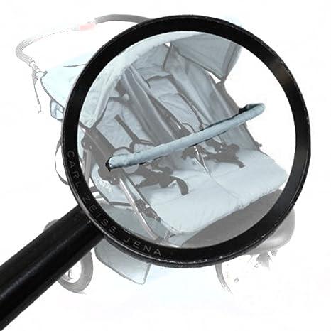 ARO Asidero barra de seguridad para CORONA TT14 Cochecito para Mellizos color: Gris
