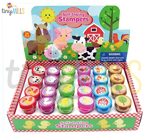 TINYMILLS 24 Pcs Barnyard Farm Animals Stampers for - Barn Animals Farm