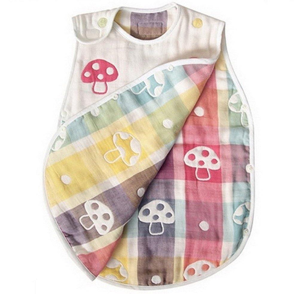 Bebé abierto parte inferior muselina Saco de dormir para 4 temporada y muselina Juego de manopla de baño: Amazon.es: Ropa y accesorios