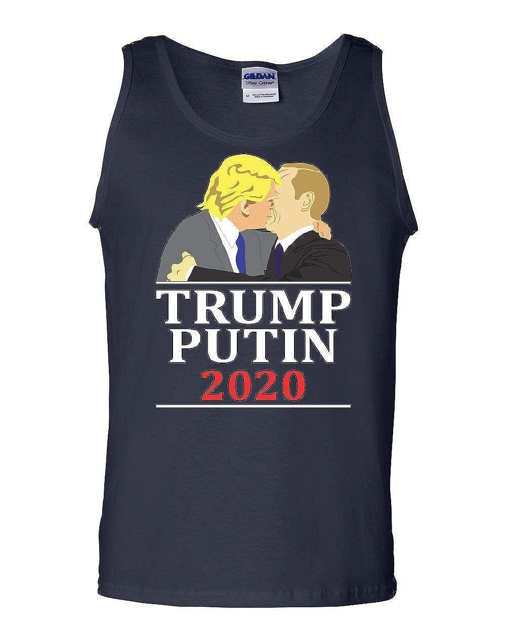 Trump and Putin Kissing Tank Top Funny Anti Trump Russia Election Sleeveless