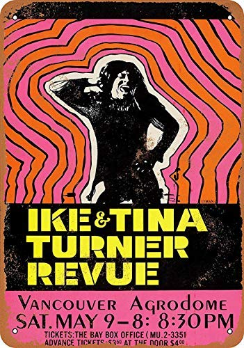 thr17EHUX IKE & Tina Turner in Vancouver Vintage Metal Signs Funny Warning Notice Tin Sign for Home Bar Man Cave Kids Rooms Wall Art Decor 8