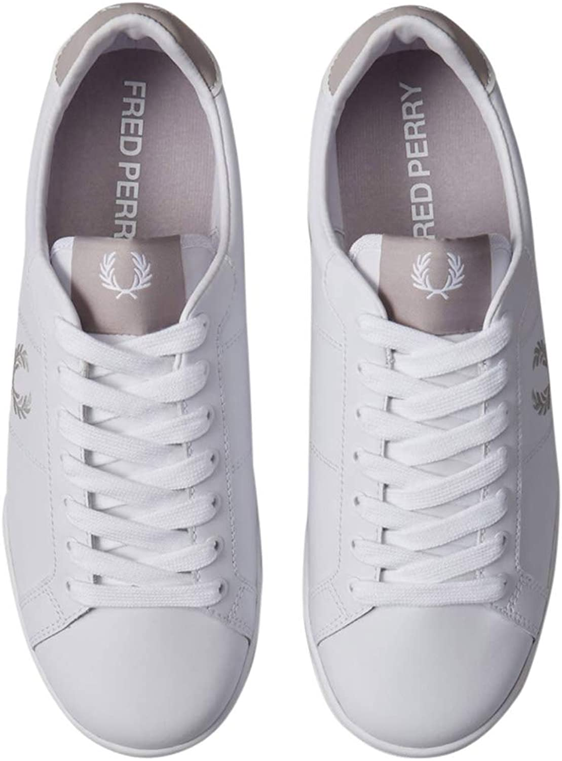 Fred Perry Homme B722 Basket offwhite Blanc - Gris clair