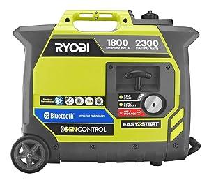 Ryobi RYI2300BTA Bluetooth 2,300-Watt Generator