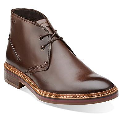 Clarks Grimsby Hi Men's Leather Chukka Boot (7.5 US Mens, Tan)