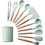 Wooden/Silicone Cooking Kitchenware Spatula/Spoon, Utensils Tool 11PCS - ORIGINAL, High Quality, Unique Design, Heat…