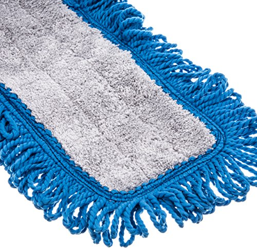 Carlisle 363313614 Polyester/Polyimide Blend Dry Mop Pad, 36'' Length, Blue (Pack of 12) by Carlisle (Image #2)