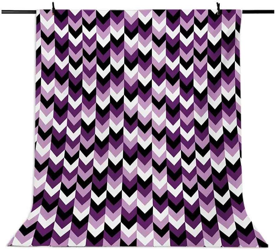 8x10 FT Backdrop Photographers,Zig Zag Chevron Pattern in Shabby Colors Classic Simple Geometric Design Background for Kid Baby Boy Girl Artistic Portrait Photo Shoot Studio Props Video Drape Vinyl