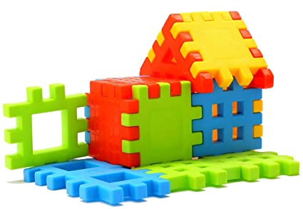 Educational Toys Age 2 : Buy sartham building block toy for kids age 2 to 5 multicolour