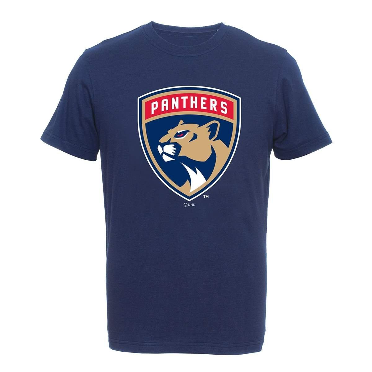 NHL Eishockey T-Shirt FLORIDA PANTHERS Logo navy Majestic