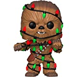 Funko - Pop Star Wars: Holiday - Chewie With Lights Figurina de Colección, Multicolor, 33886