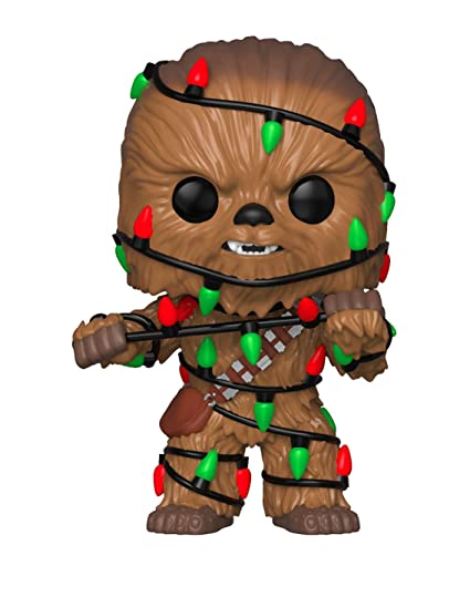 amazon com funko pop star wars holiday chewie with lights