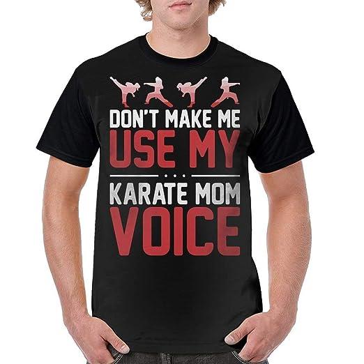 0447dd6ad GAMSJM Personalized Men Tshirt Don't Make Me Use My Karate Mom Voice Trendy  Sports