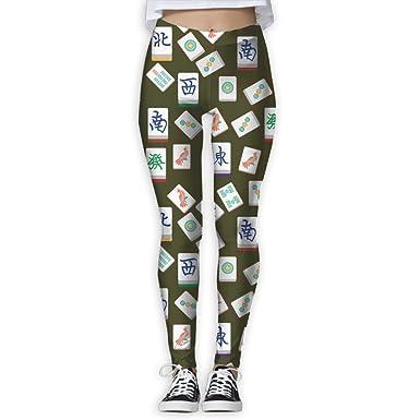 Amazon.com: vgyjm Cool Mahjong pantalones de yoga Casual ...
