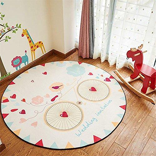 simonshop antideslizante forma redonda zona alfombra piso Mat salón decoración Felpudo, Style A