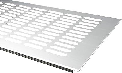 Aluminium Lüftungsgitter Lüftung Edelstahl Optik Breite 150mm diverse Längen