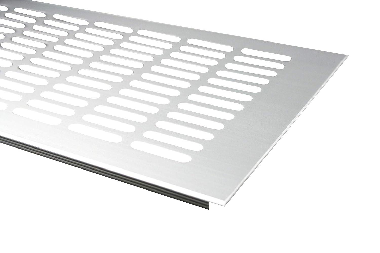 Plata anodizado//–/F1 /Rejilla de ventilaci/ón de aluminio 150/mm x 300/mm en diferentes colores MS herrajes/