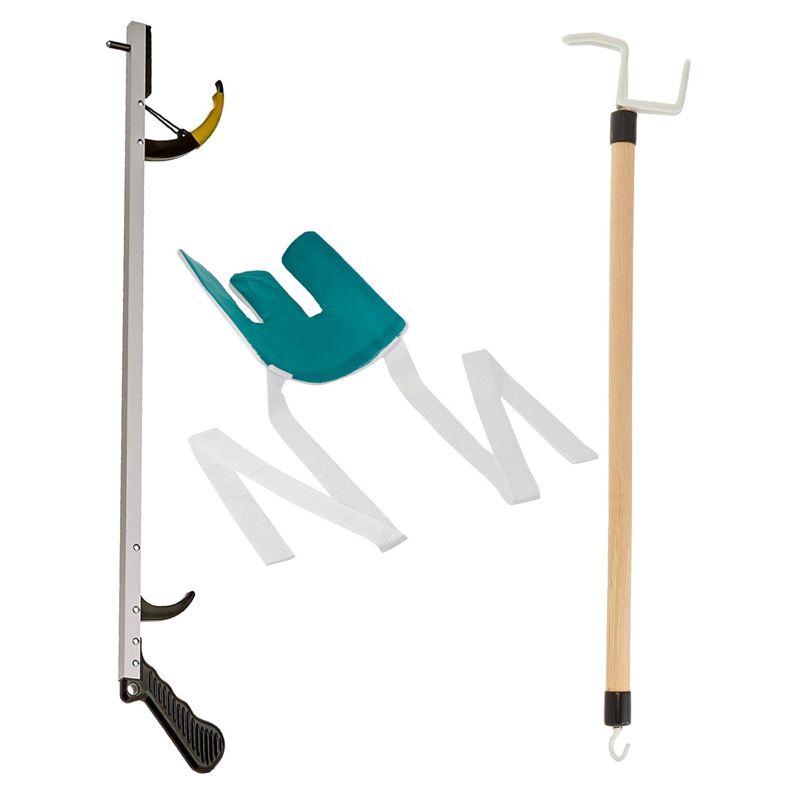 Sammons Preston Assistive Device Kit 4, Includes 26'' SPR Reacher, Flexible Sock Aid & 26'' Dressing Stick, Adaptive Dressing & Independent Daily Living Aid for Those with Limited Reaching Ability