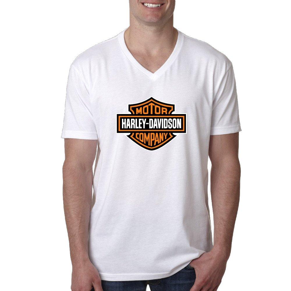 Nicky, maglietta a maniche corte e scollo a V, da uomo, con logo Harley Davidson NICKY Fashions