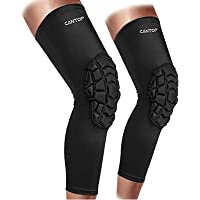 Cantop Compression Knee Pads Leg Sleeve Support Protector Sports Brace for Volleyball Basketball Football, Sold as Pair…