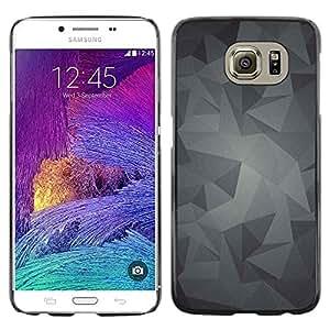 TopCaseStore / la caja del caucho duro de la cubierta de protección de la piel - Pattern Grey Gray Android - Samsung Galaxy S6 SM-G920