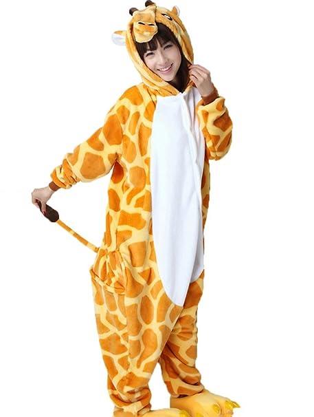 Cliont Animales de la Jirafa Pijamas la Ropa de Noche del Traje del Anime de Cosplay