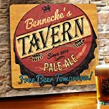 Personalized Wood Home Bar and Tavern Sign - Free Beer