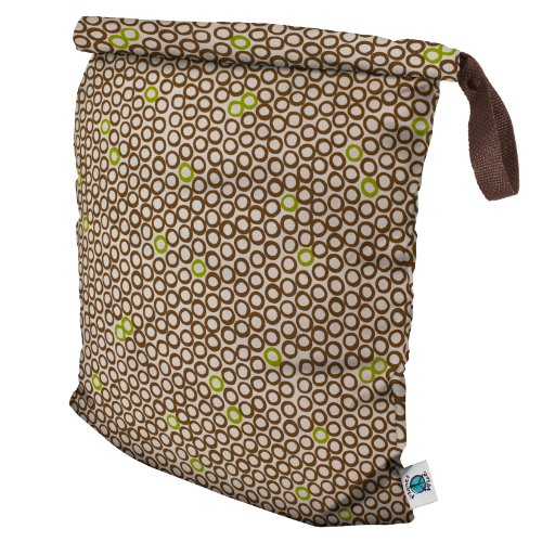 Planet Wise Roll Down Wet Diaper Bag, Lime Cocoa Bean, ()