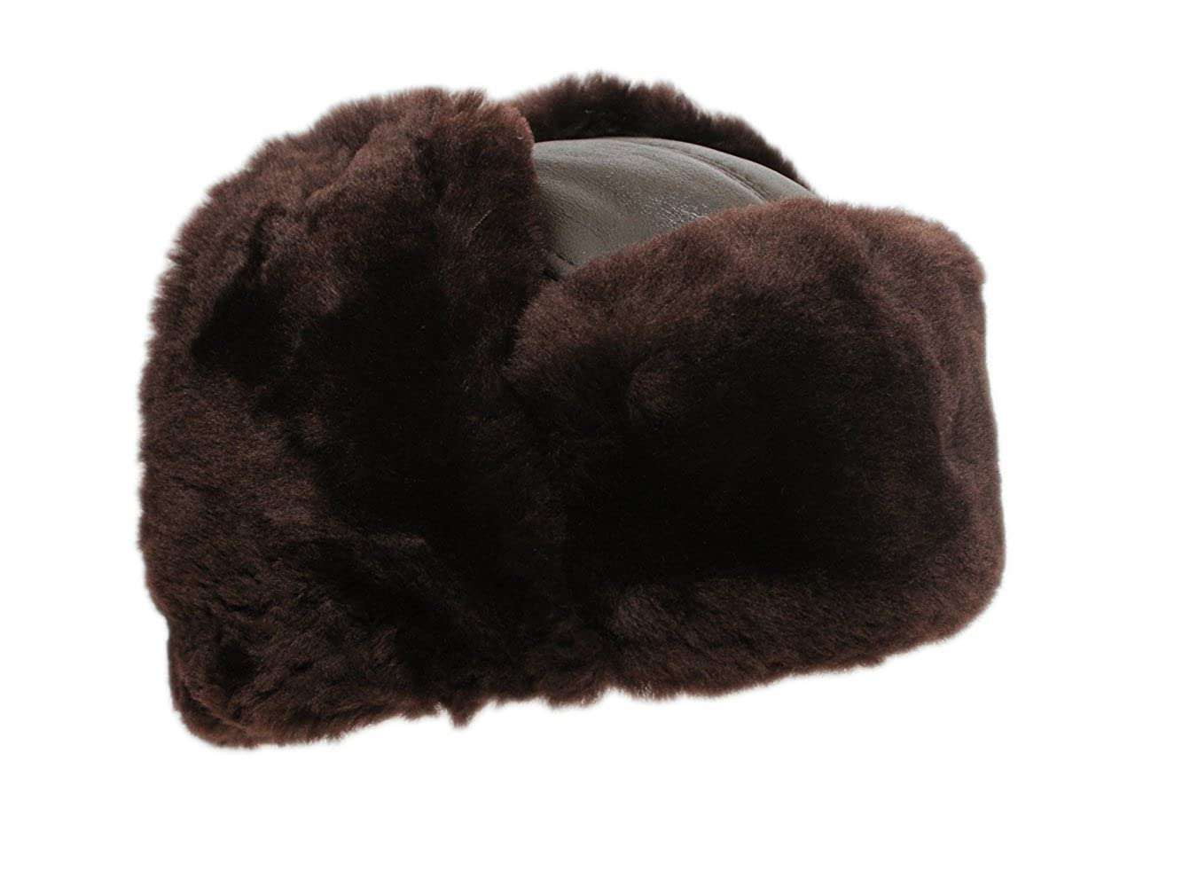 Ricardo B.H. Genuine Sheepskin Trooper Hat, Brown tone for Men – Medium Fiberlinks Textiles Inc RH05MBW-M