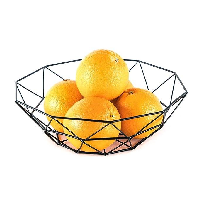 Surenhap Cesta de Frutas de Almacenamiento Soporte para Frutas Container Euro Antique Simple Art Design Cesta de Fruta multifunción, Cesta de Metal, ...