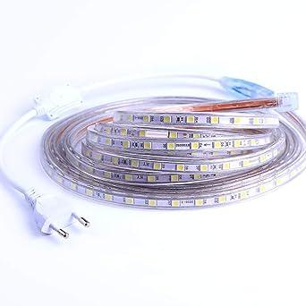 Merveilleux Ruban à LED, Ruban LED Etanche, Très Lumineux Bandeau Led 220v, 5050 IP65