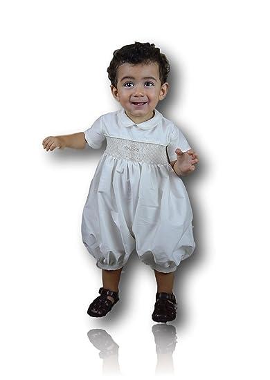 8dda1e16a Amazon.com: Suma Ivory Shantung Christening Baptism Blessing Outfits ...
