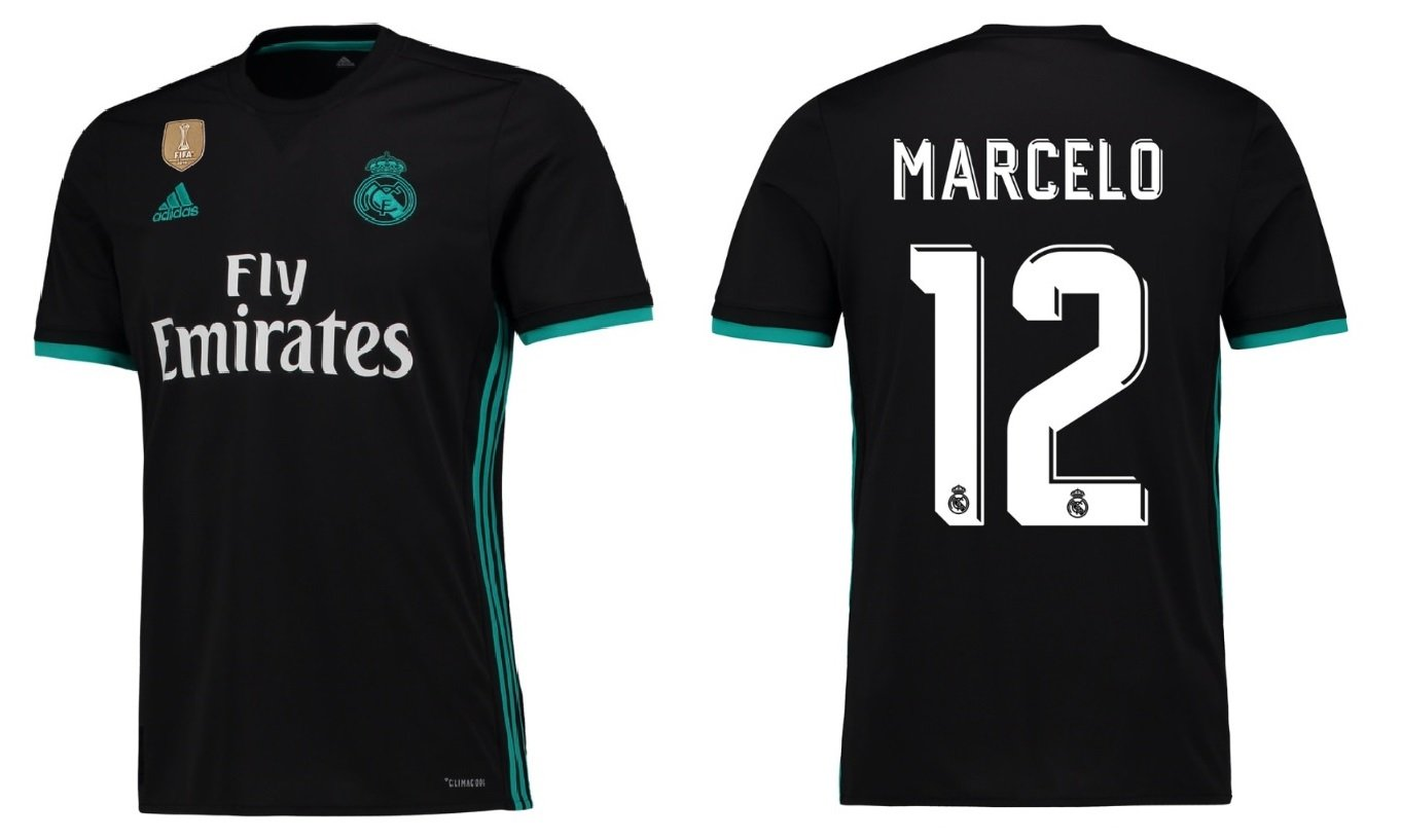Real Madrid Trikot Kinder 2017-2018 Away WC - Marcelo 12