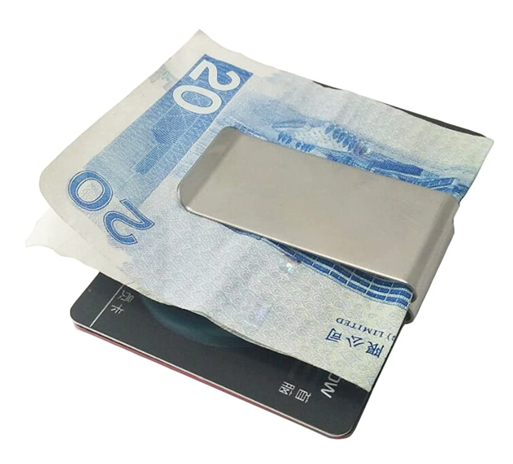 Smart Money Clip Double-Sided Credit Card Holder Cool Stainless Steel Card Holder for Men Artmi AW19-2