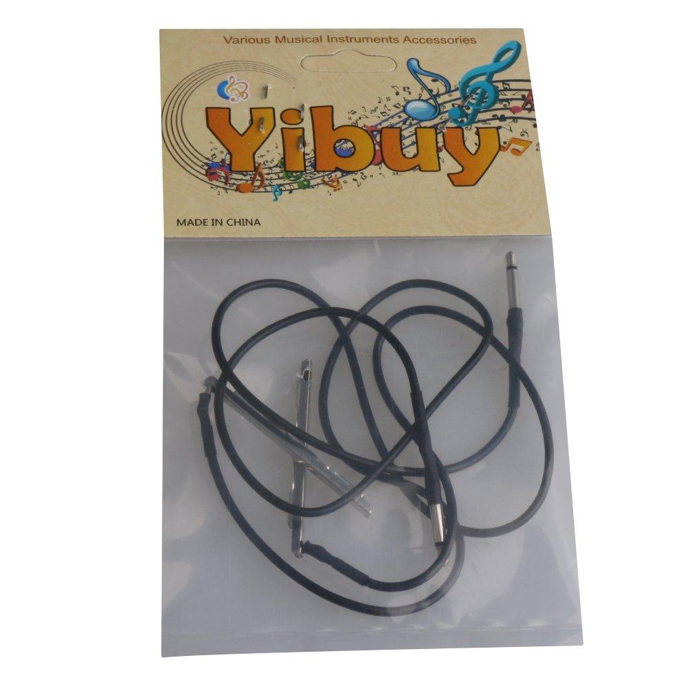 Yibuy 2 Pieces Open 3 String Cigar Box Guitar Piezo Rod Wiring Diagrams Pickup W 24mm Plug Musical Instruments