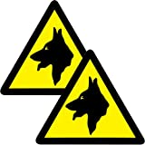 2 x Large Warning Guard Dogs Security Vehicle Stickers - Pack of 2 Dog Van Decals