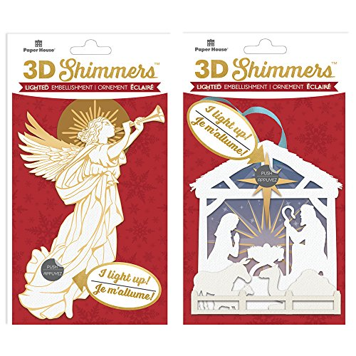 Daisy D Scrapbook Paper (Paper House Productions EMB-2004E LED 3D Shimmers, Angel/Nativity)