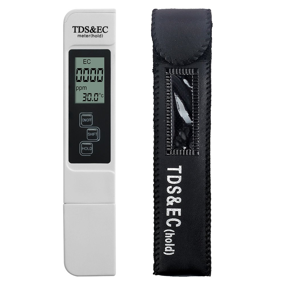MacDoDo Digital Water Quality Tester,Professional TDS,EC and Temperature Meter,0-9990ppm,0-9990us/cm,+/-2% High Accuracy for Drinking Water,Hydroponics,Gardening,Aquariums,Pools and Spas(TDS-EC)