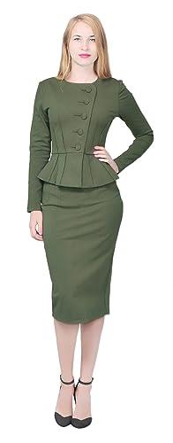 Vintage Suits Women | Work Wear & Office Wear acket Skirt Suit Marycrafts Womens Formal Office Business Shirt J $49.90 AT vintagedancer.com