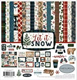 #5: Carta Bella Paper Let It Snow Collection Kit, Red/Blue/Navy/Green/White