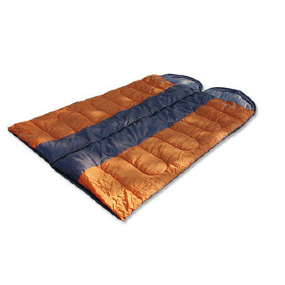Xin.S Cómodo Ligero Portátil Fácil De Comprimir Sobres Se Pueden Dormir. Empalmar Doble Sacos De Dormir. Pueden Acampar Al Aire Libre Viaje Saco De Dormir Multifuncional,Naranja-(190+30)75cm 39d020