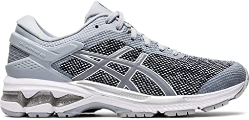 ASICS Gel-Kayano 26 Zapatillas de correr para mujer, Gris (Piamonte Gris/Chapa Rock), 44 EU: Amazon.es: Zapatos y complementos