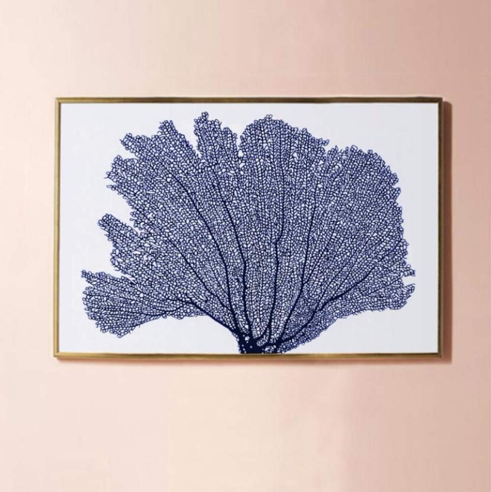 Juabc Wall Art Blue Sea Coral Poster and Print Wall Art Canvas Painting Wall Painting Decoration 50X70 cm No Frame