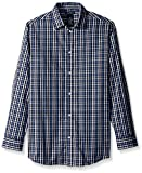 Nautica Big Boys' Long Sleeve Plaid Woven Shirt, Navy Plaid, 08